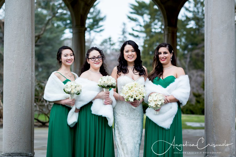 Long Island New York Westbury Garden Winter Green Wedding