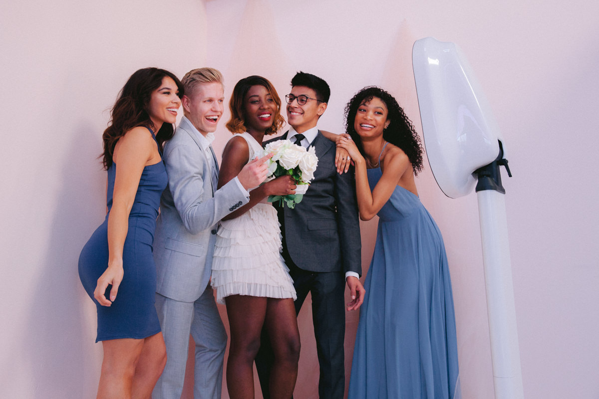 Luxury photobooth rental near me with Boomerang, Gif and video