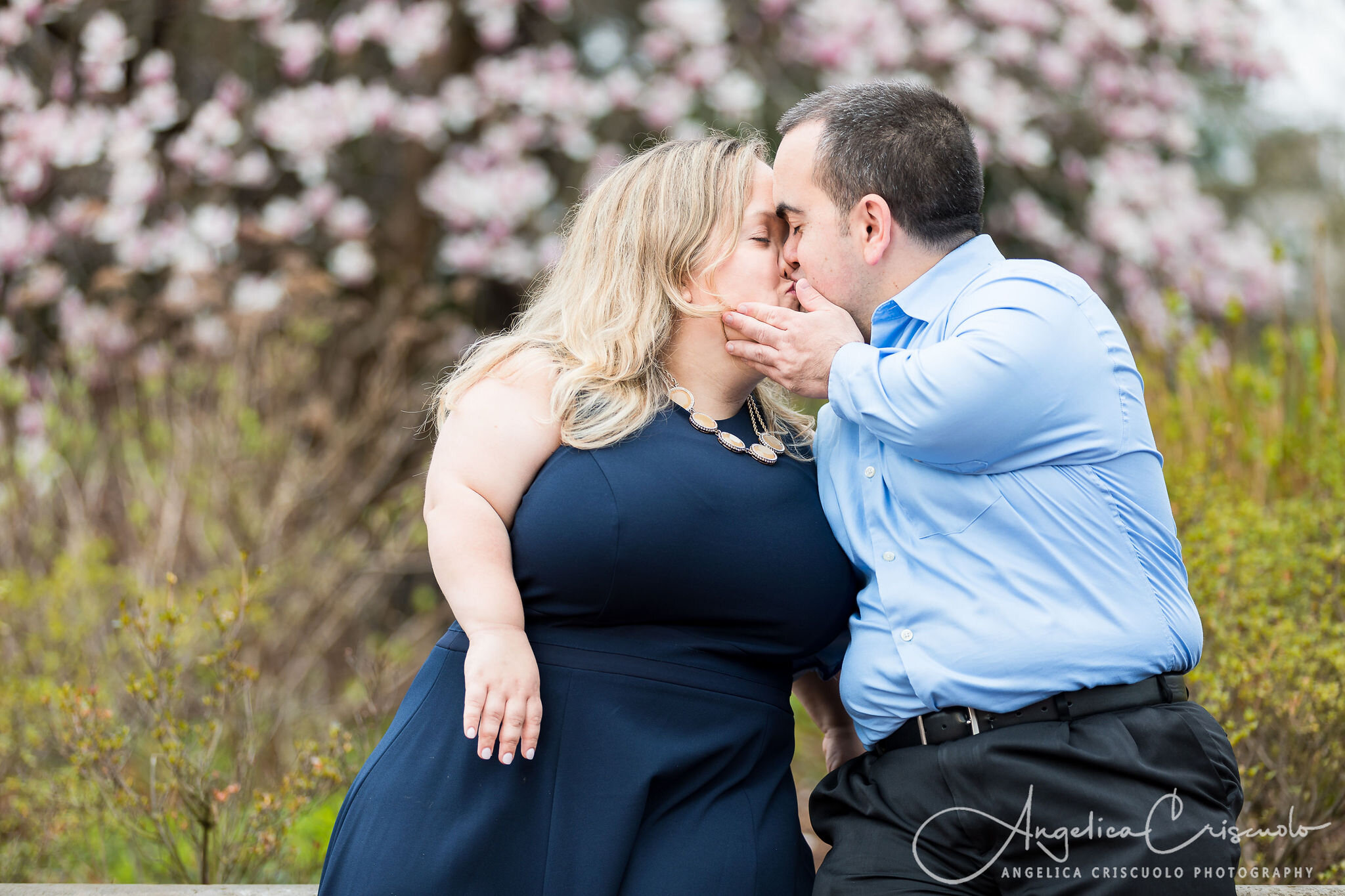 New York Central Park Engagement Wedding Photos - Cherry Blossoms ©2019 Angelica Criscuolo Photography | All Rights Reserved | www.AngelicaCriscuoloPhotography.com | www.facebook.com/AngelicaCriscuoloPhotography