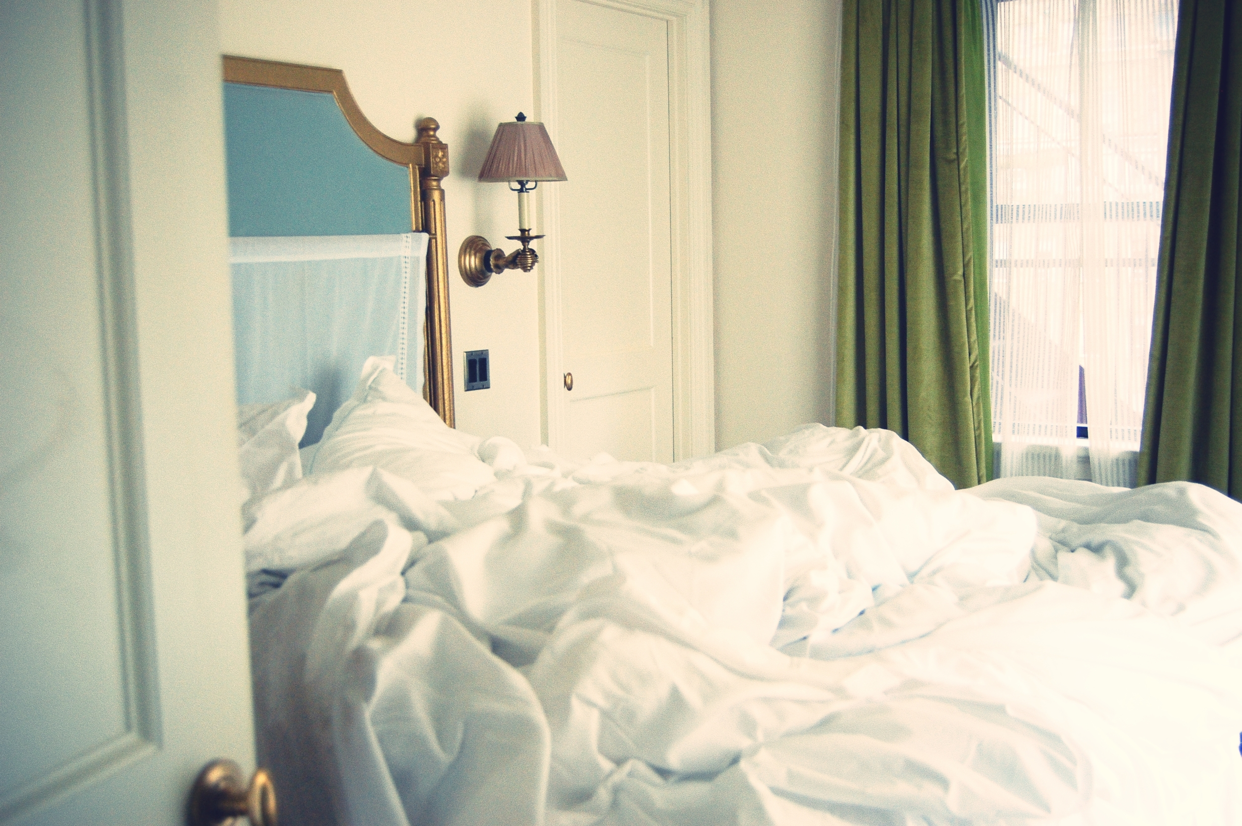 Linens: Riteway // Pillows, Duvet, and Feather Topper: Down, Etc. // He Slept Here: Jack Kerouac (previously Marlton House)