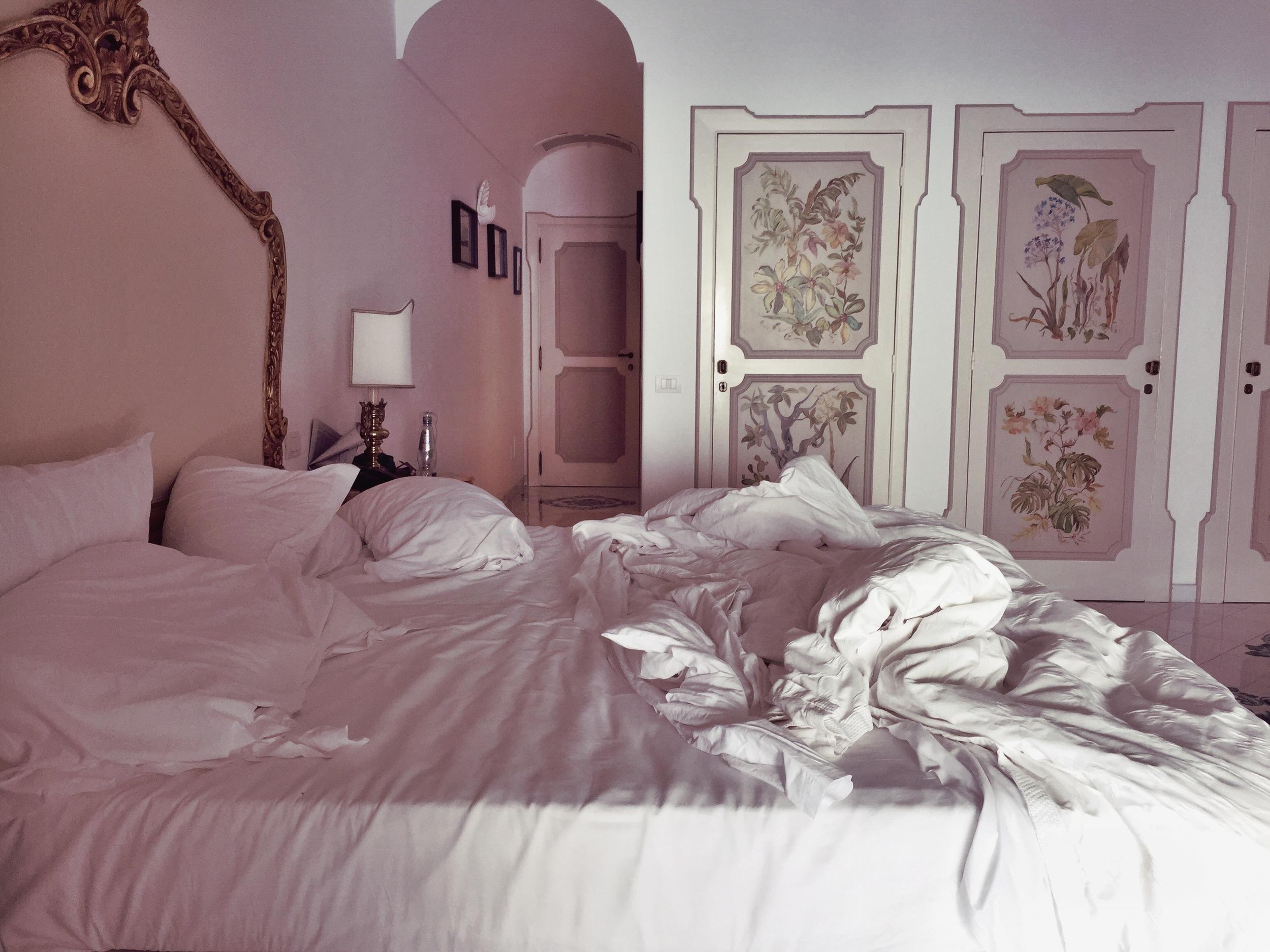 Il San Pietro di Positano //I am a messy, athletic sleeper.