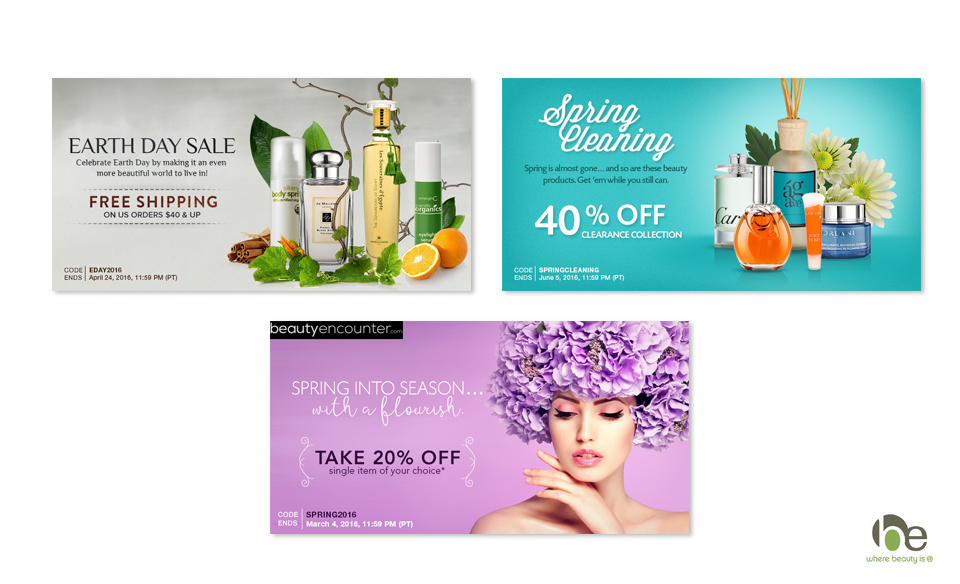 Beauty Encounter Web Ads
