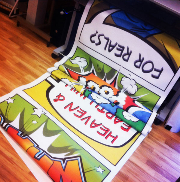 Stage Graphics printing on Epson large format printer