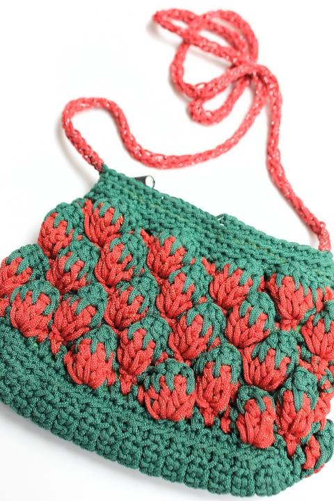 1960 Crochet Strawberry Bag