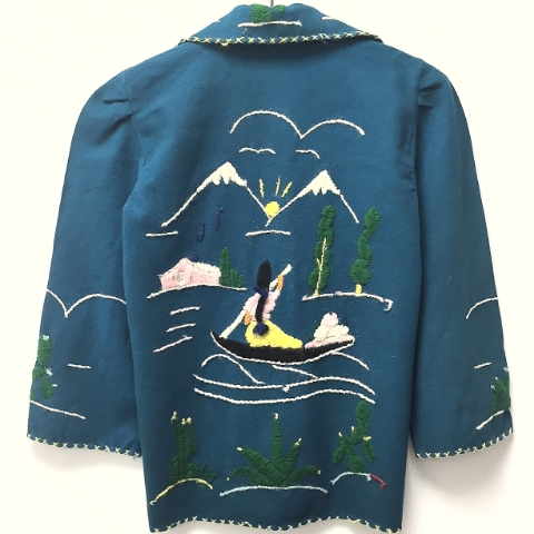 1950's Hand Embroidered Mexican Jacket