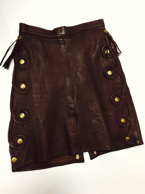 1980 Leather work and Stud Skirt