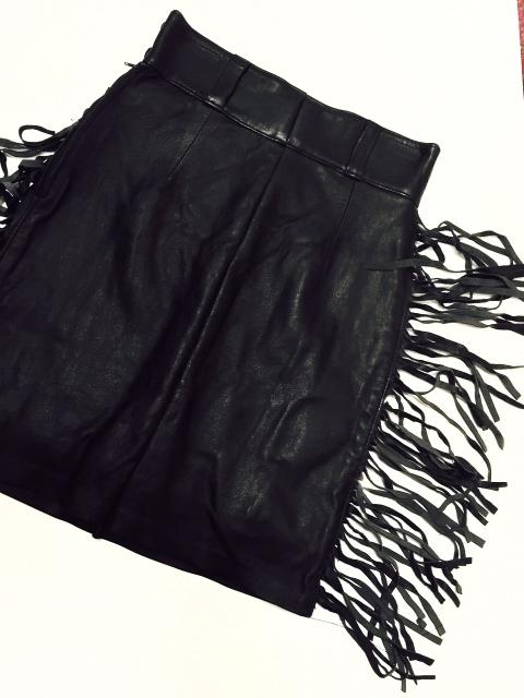 Late 1980 Leather Fringe Skirt