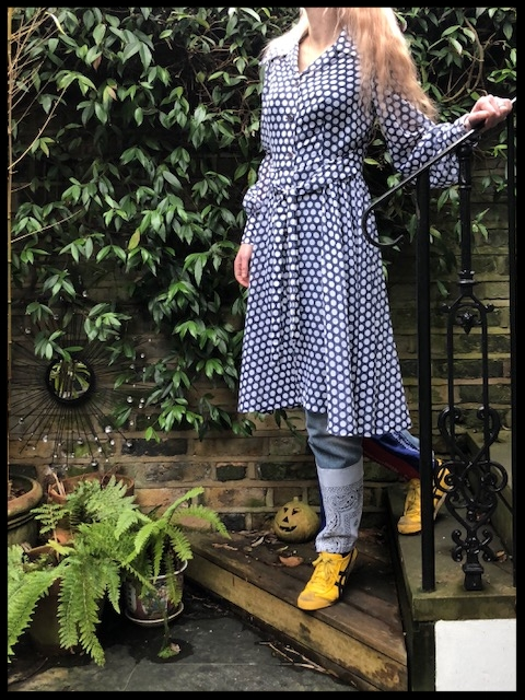 1970 Dress - From Personal,Vintage Archive, Jeans - East London Style (Home-made).