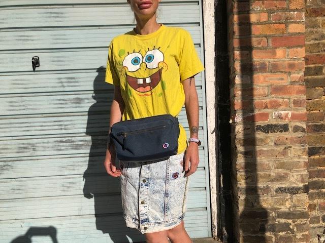 T-shirt - E-bay, Skirt - Traid, Belt Bag - Champion.