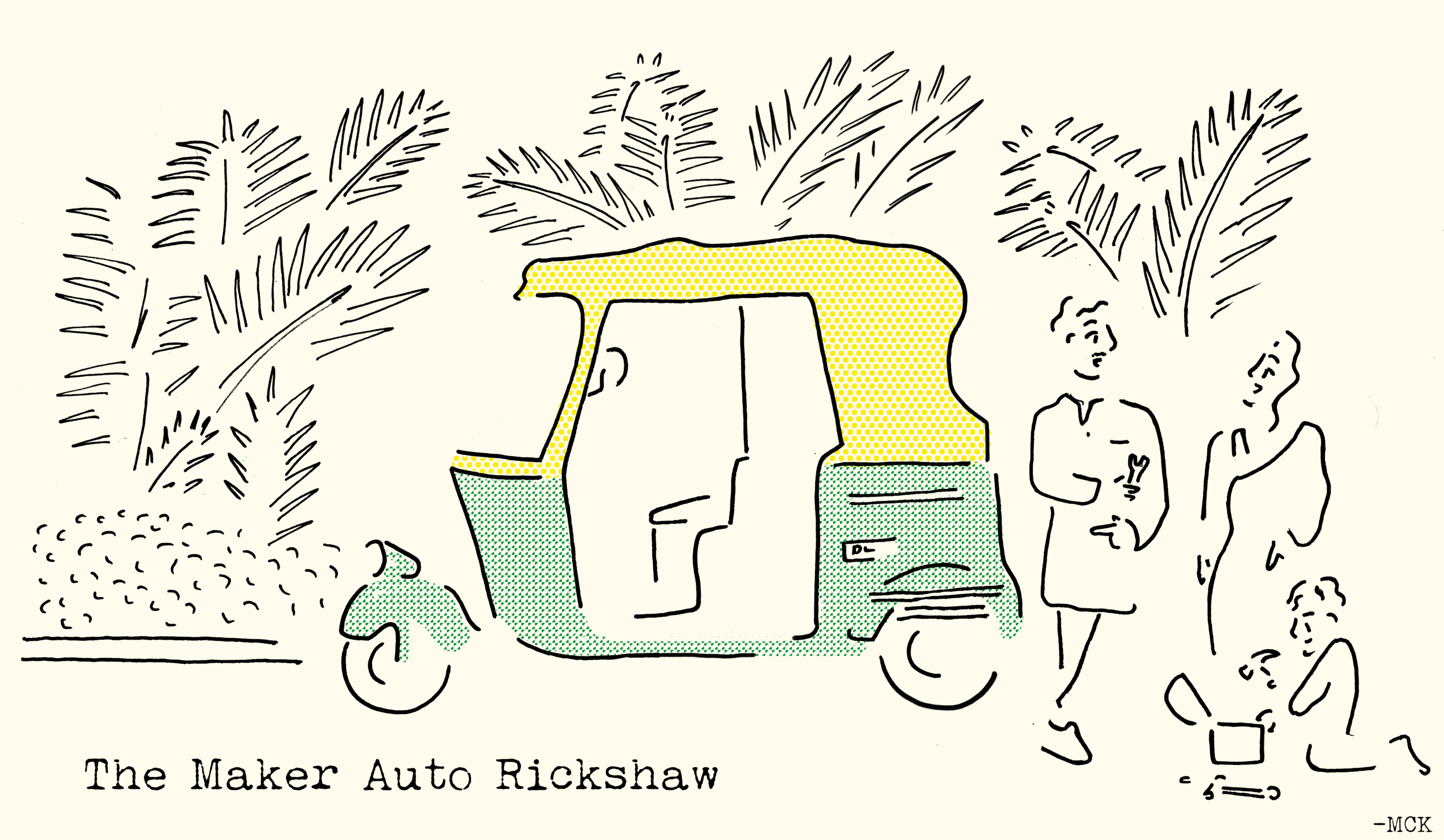 Illustration for a redesign of a Auto Rickshaw. Done for a Startup in India.