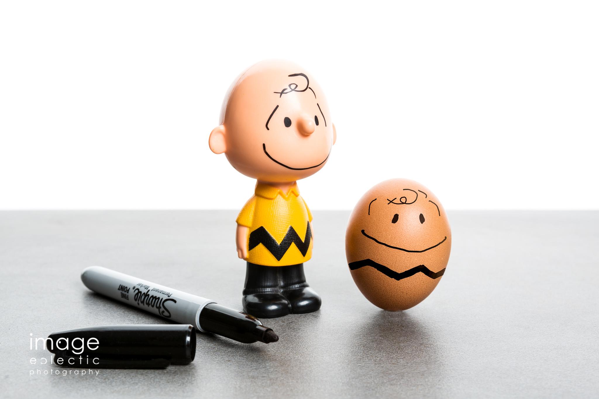 Chuck Plays with an Egg