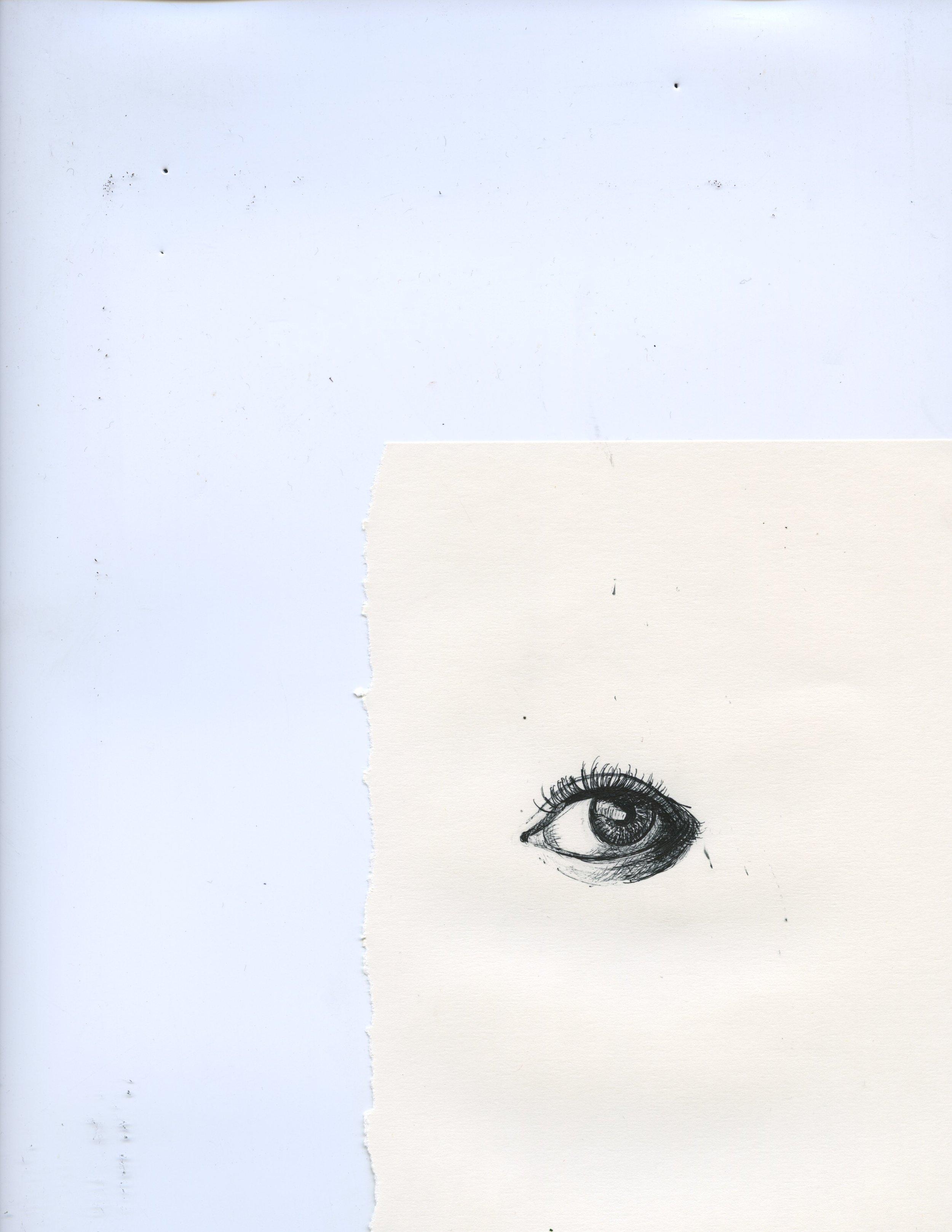 """Third Eye"" Pen on paper, 2019."