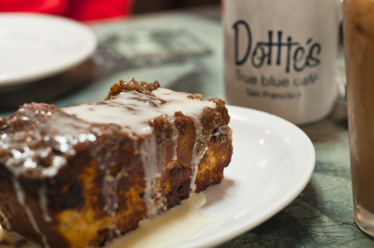 Coffee cake at Dottie's.