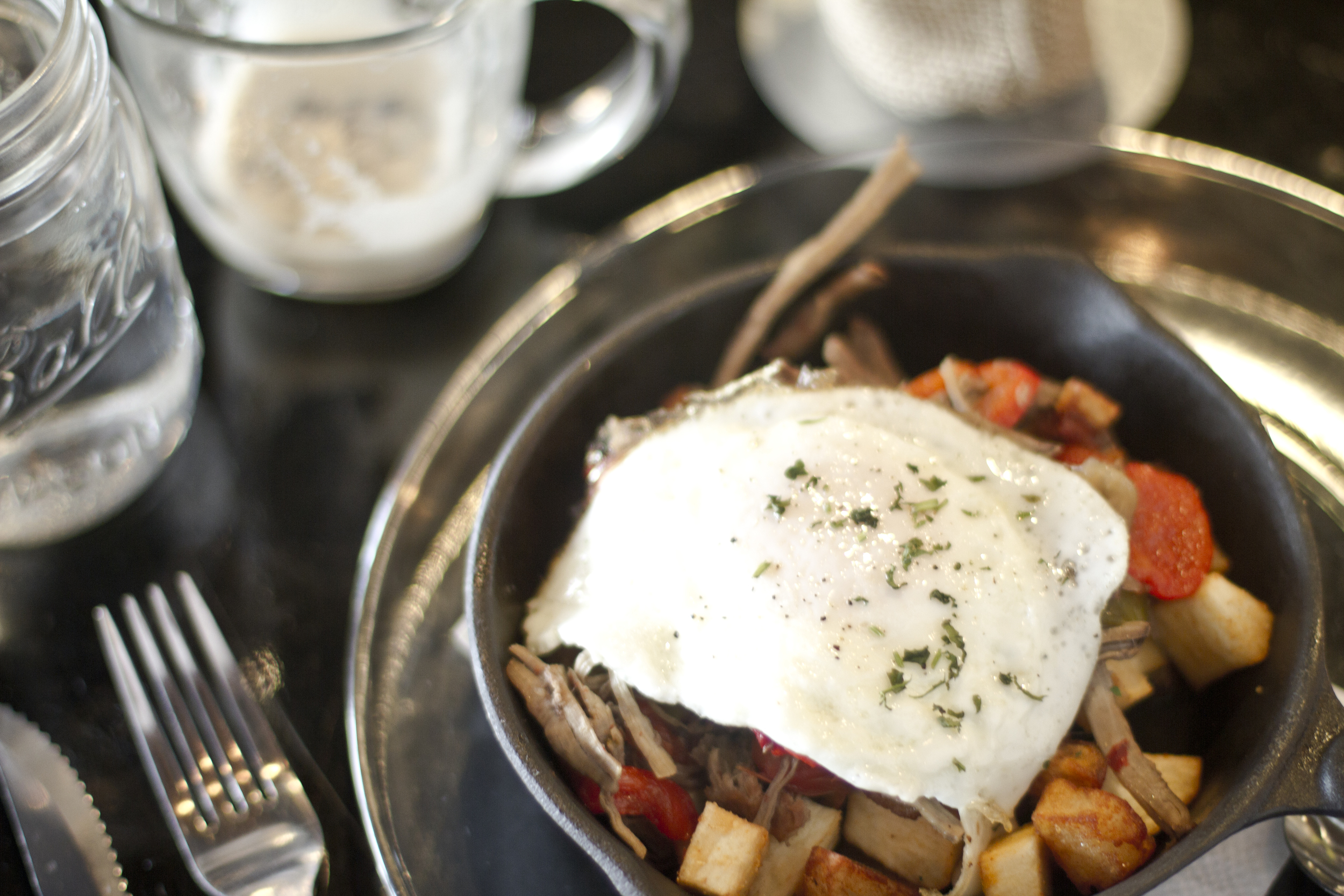 The delicious Latin Hash...a brunch favorite.