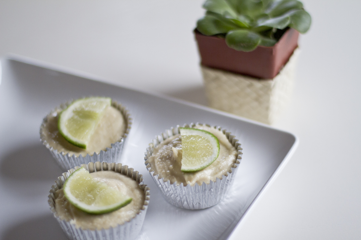 raw vegan mini key lime pies