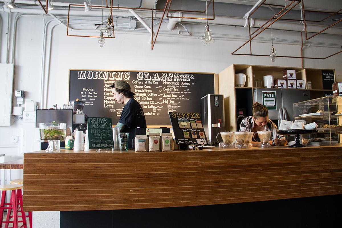 Morning Glass Coffee & Pastry Bar inside Fishcake.