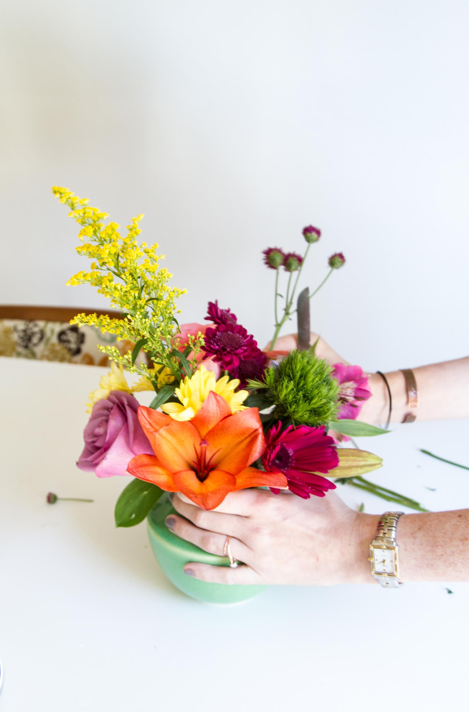DIY Floral Arrangement Tips from Opal Floral | desertfroth.com