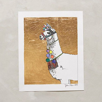 Gilded Llama by Sullivan Elaine Anlyan