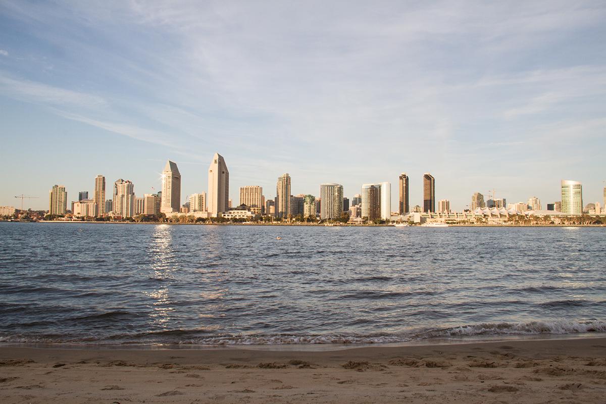 Downtown San Diego from across the Coronado Ferry Landing