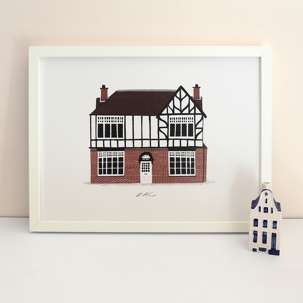 One of the personalised House Portraits which you can place orders for at the shows