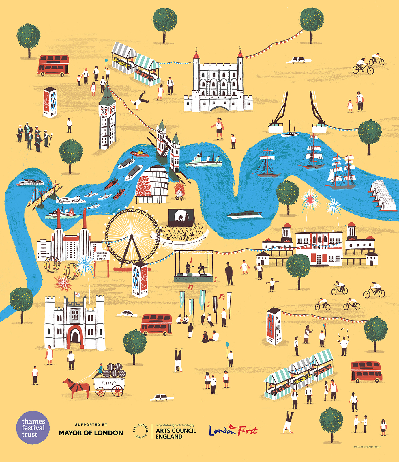 The winning poster for Totally Thames