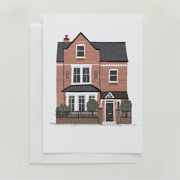 Your House on a Christmas Card