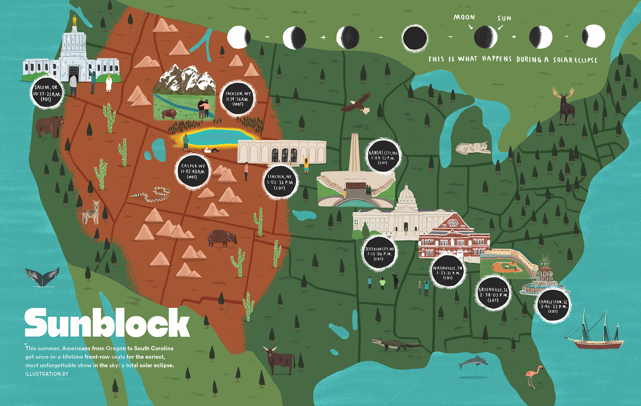 Eclipse map for Airbnb Magazine