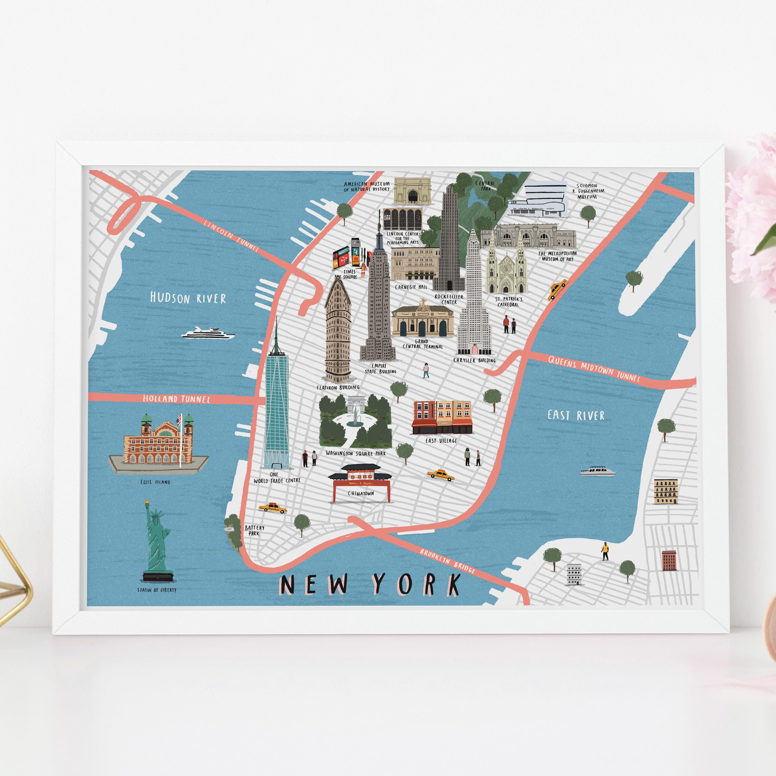 New York Map Print Alex Foster