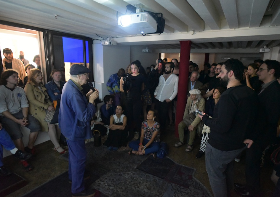Sleepness night - Spazio Ridotto -  Poetic declaration by Jonas Mekas ,  ph. Francçois Leturcq