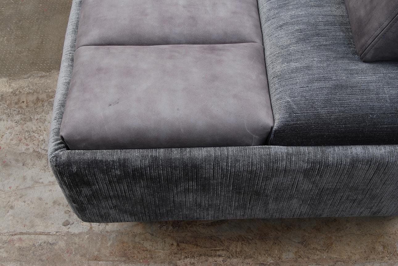 ORVETT for DIESEL - ASIMMETRICO SOFÀ, fabric and letaher