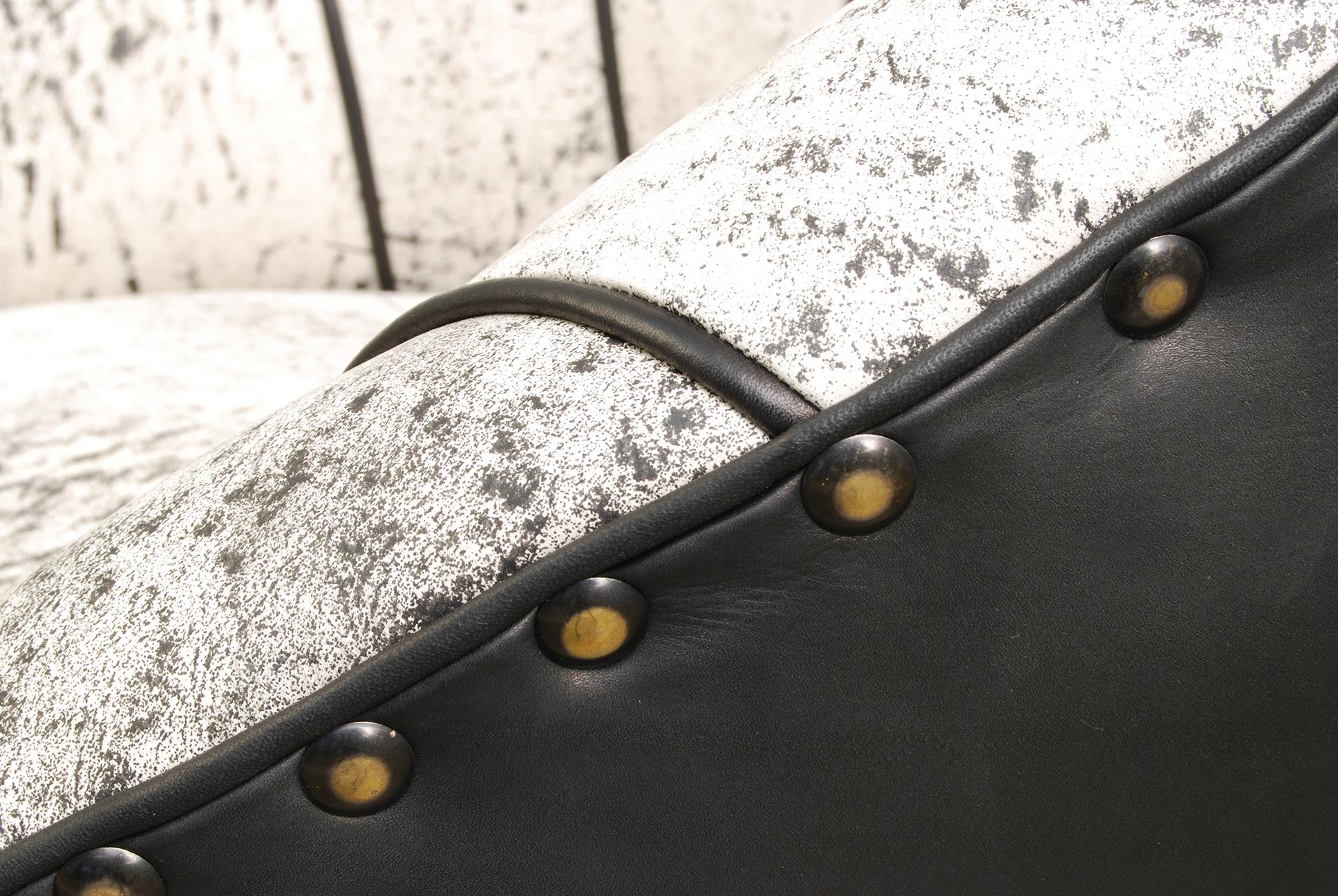 ORVETT for DIESEL - SHELL ARMCHAIR, Pietra leather, detail