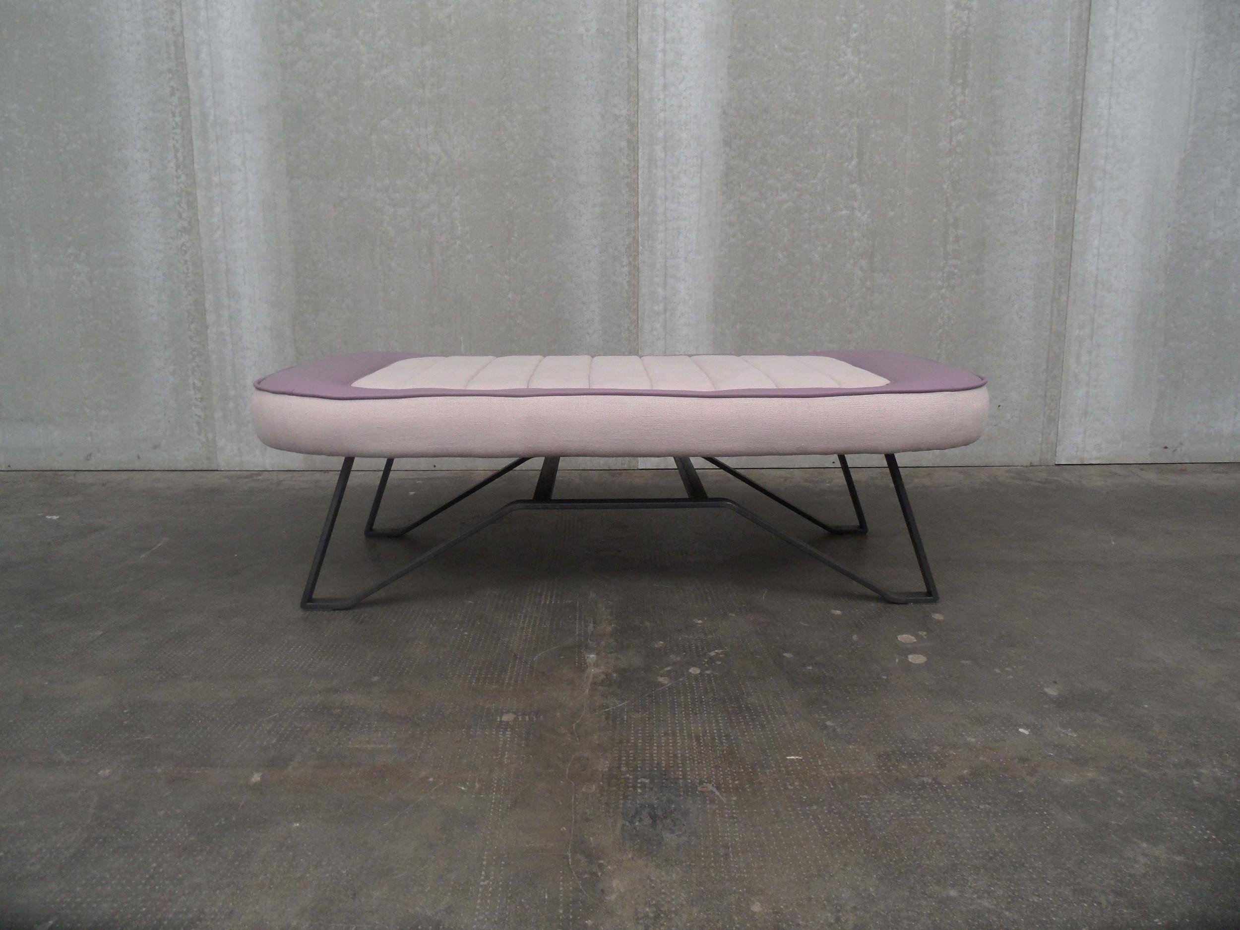 ORVETT for DIESEL - PULMINO BENCH, leather anf fabric