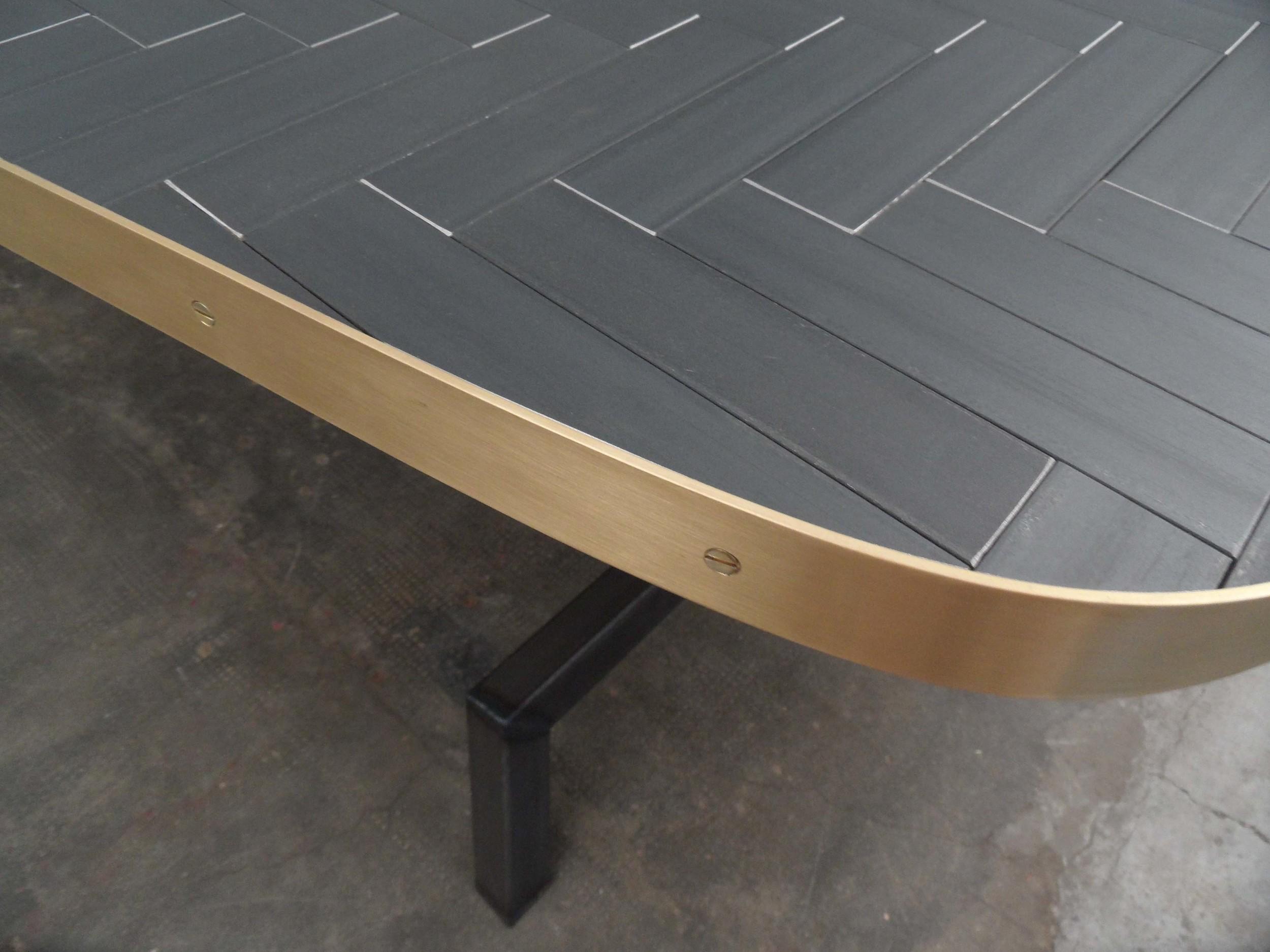 ORVETT for DIESEL -EVOLUZIONE TABLE, herringbone pattern, detail