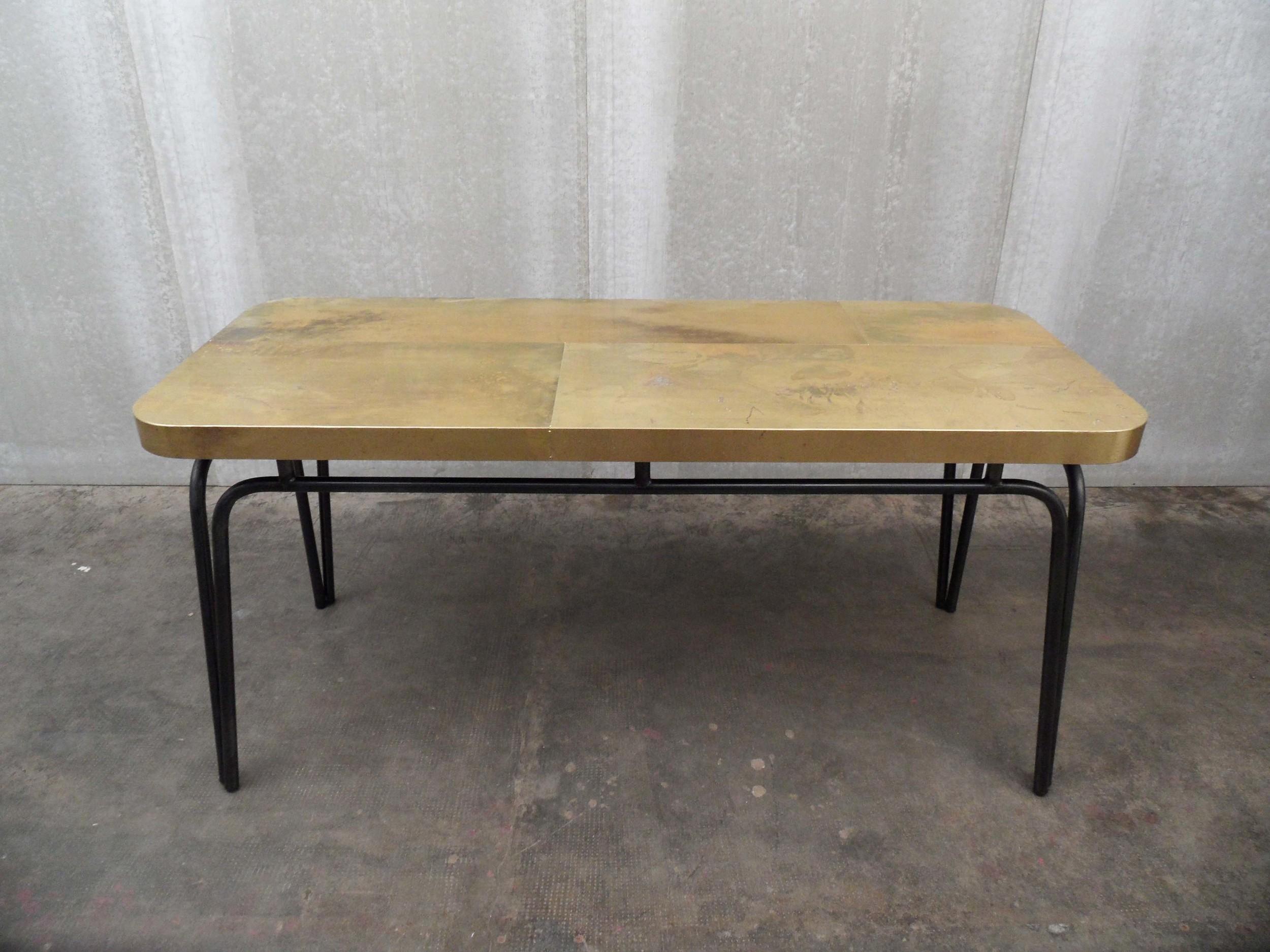 ORVETT for DIESEL - TABLET TABLE, brass