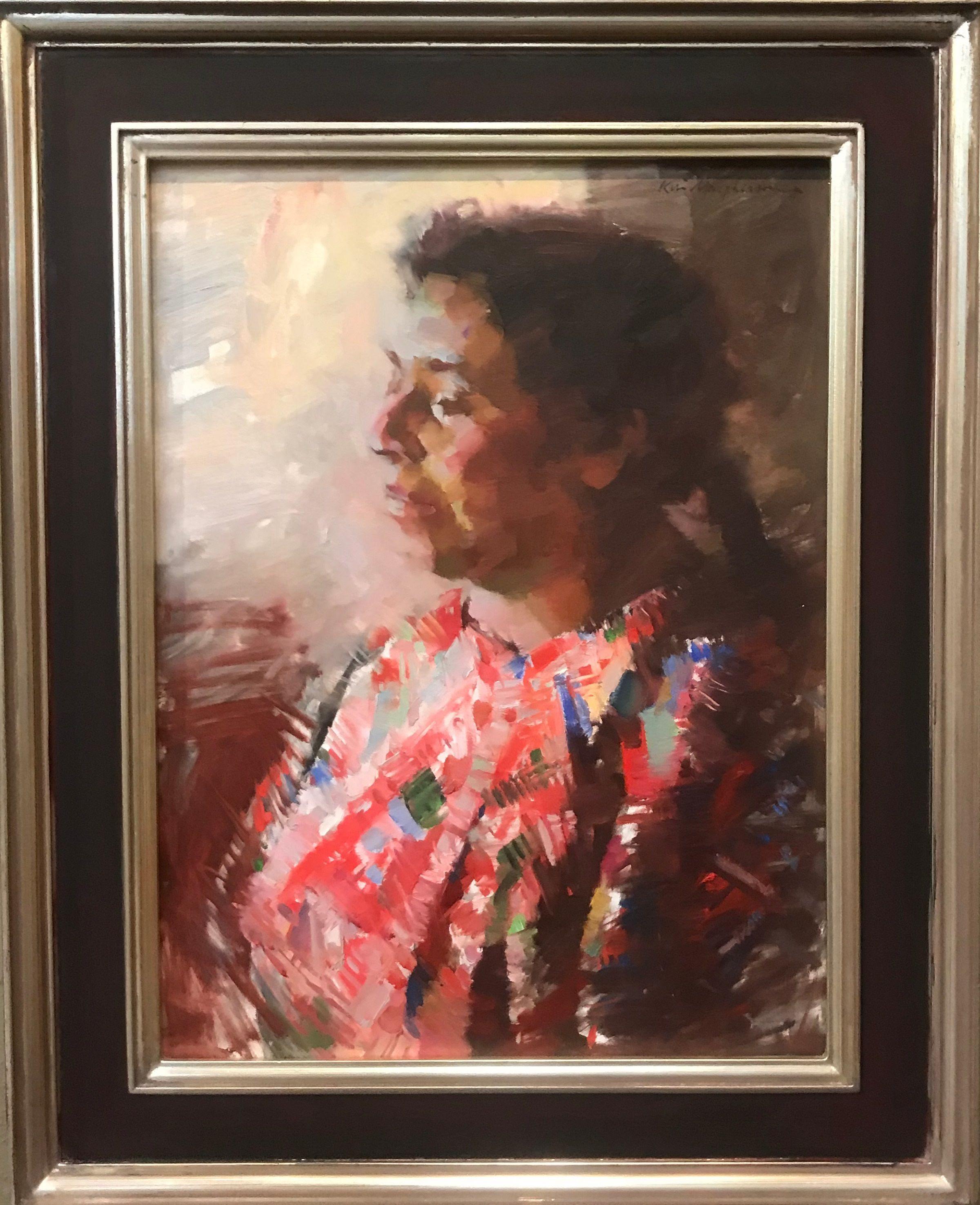 Portrait of Mám weaver Luciana Perez, Kevin Macpherson auction item #8