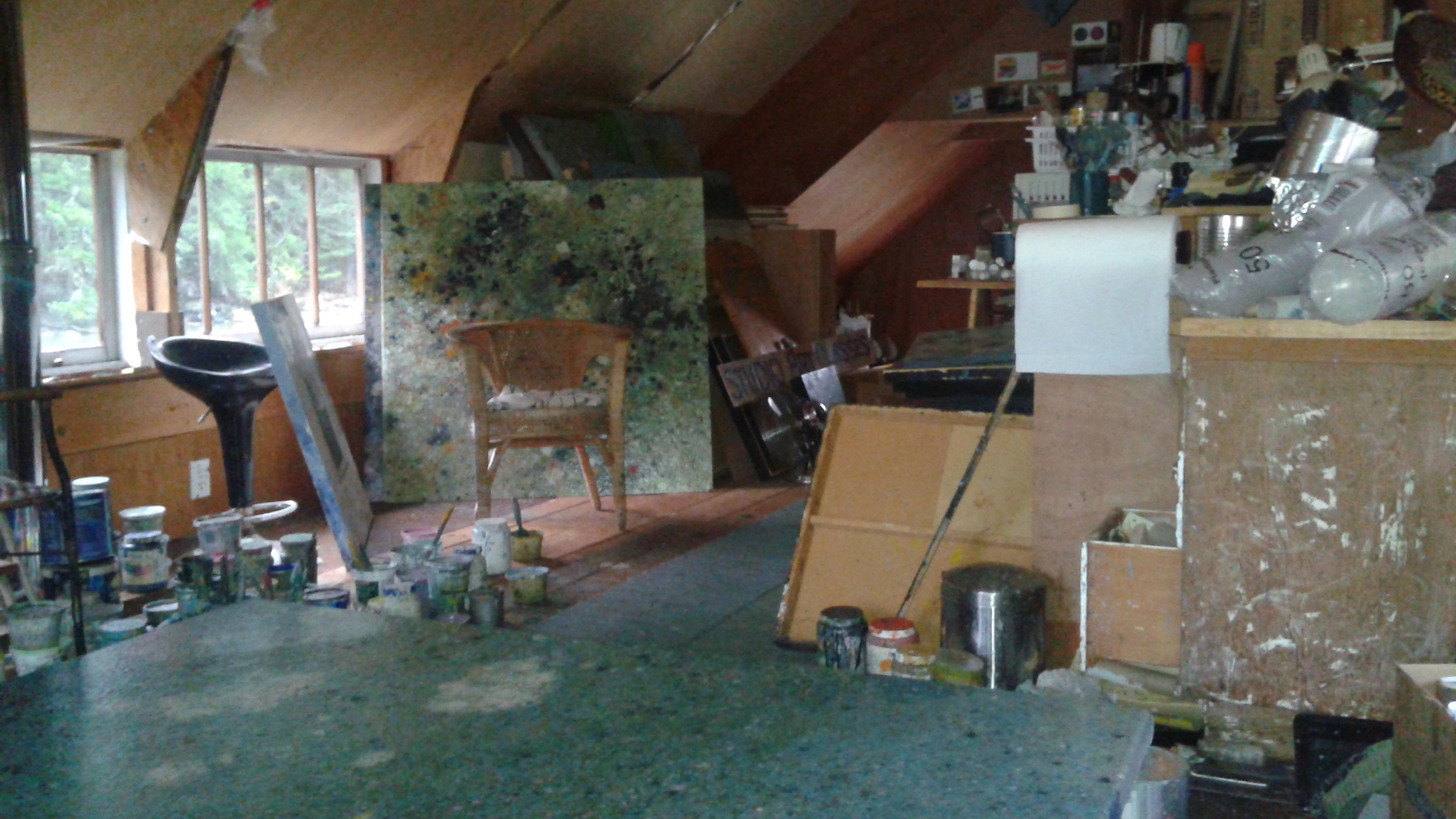 Keith Chisholm's studio in Cowichan Bay, BC.
