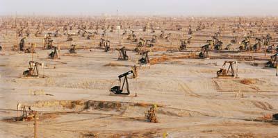 Go Wild Cats! Massive oil fields discovered in 1911, South Belridge, California. (Image Credit:  Edward Burtynsky ).