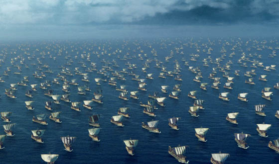 A thousand ships launched on a rising tide...