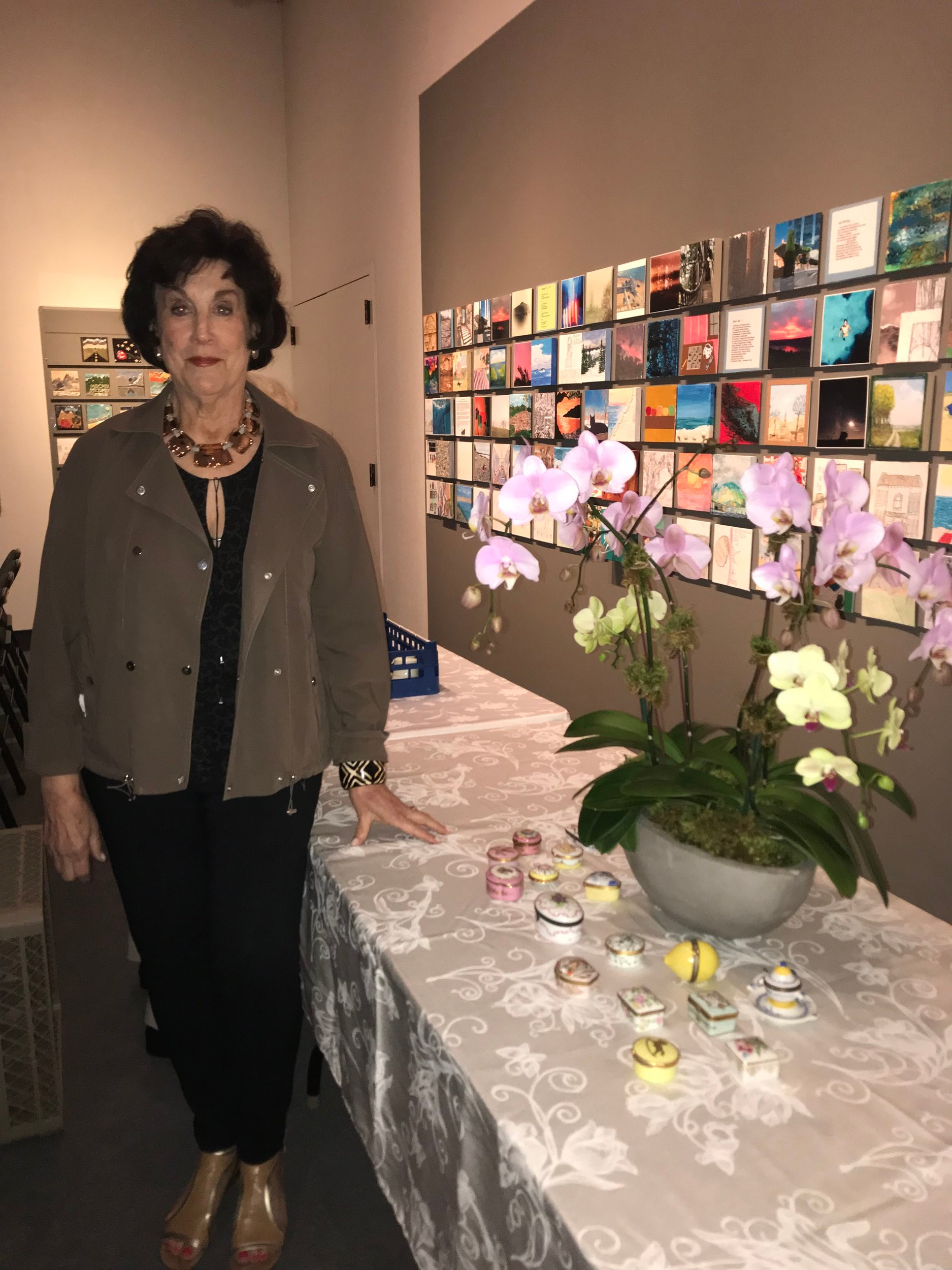 - Arlene Tulacro with part of her Limoges collection