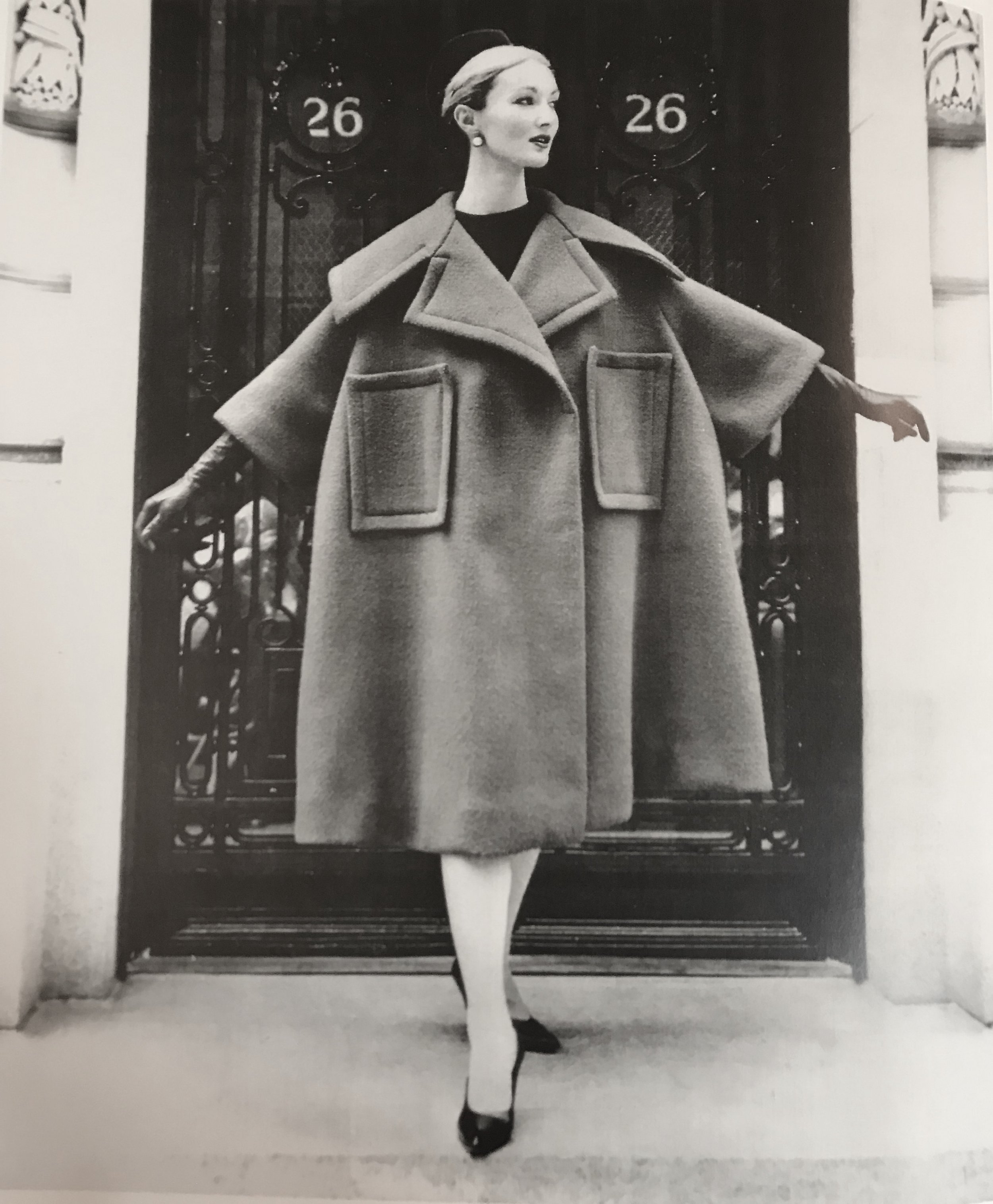 Scaasi coat in double faced red  wool, 1958.jpg