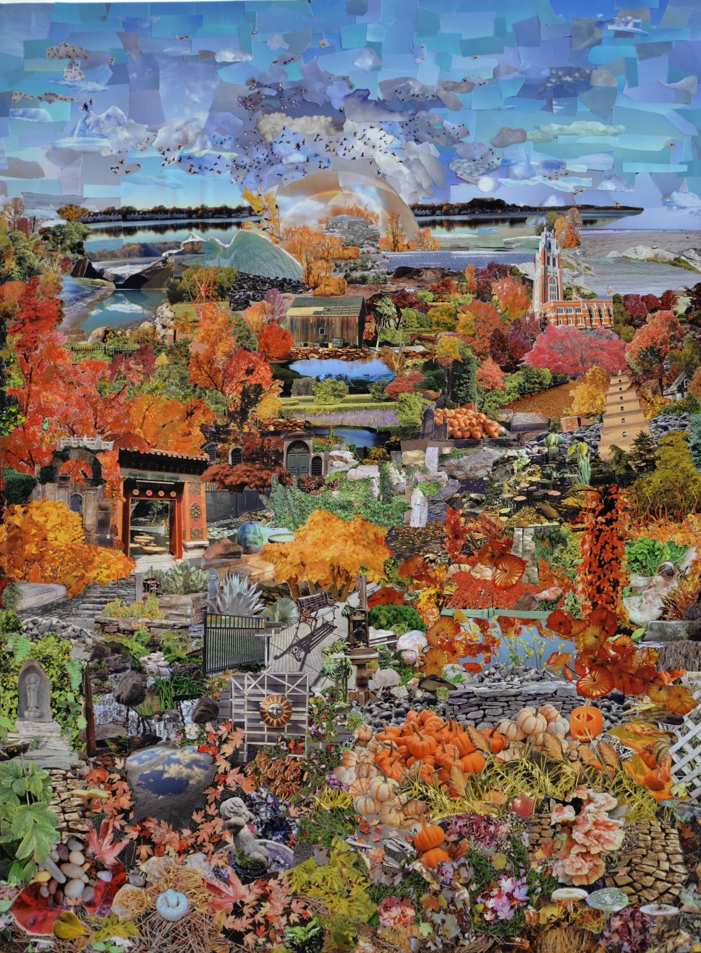 Panel 4 - Autumn Garden
