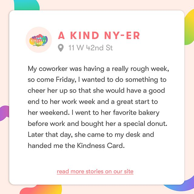 You'd be surprised at what kind acts earn people Kindness Cards! Read more true stories—link in bio! #KindnessIsHere
