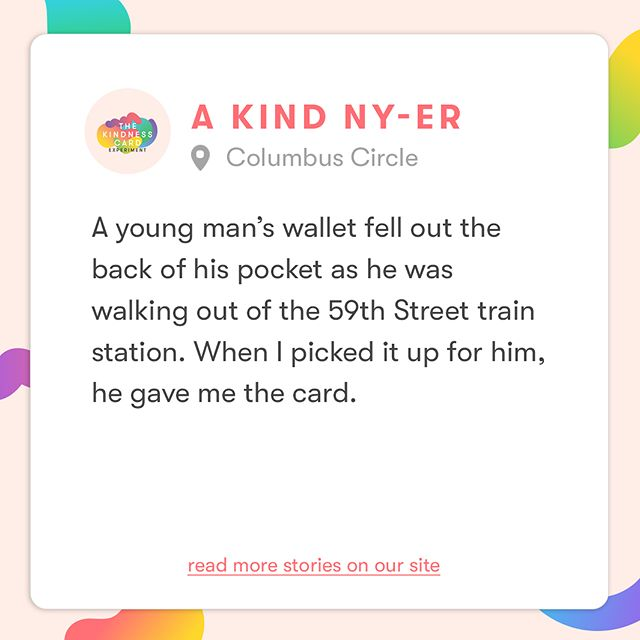 The more cards are passed, the more stories of kindness we collect! Find more stories on our site. #KindnessIsHere