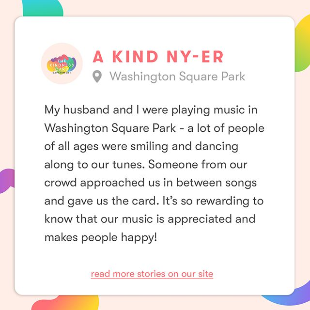 Stories of NYC kindness are still being collected on our site! Explore more sweet stories—link in bio. #KindnessIsHere