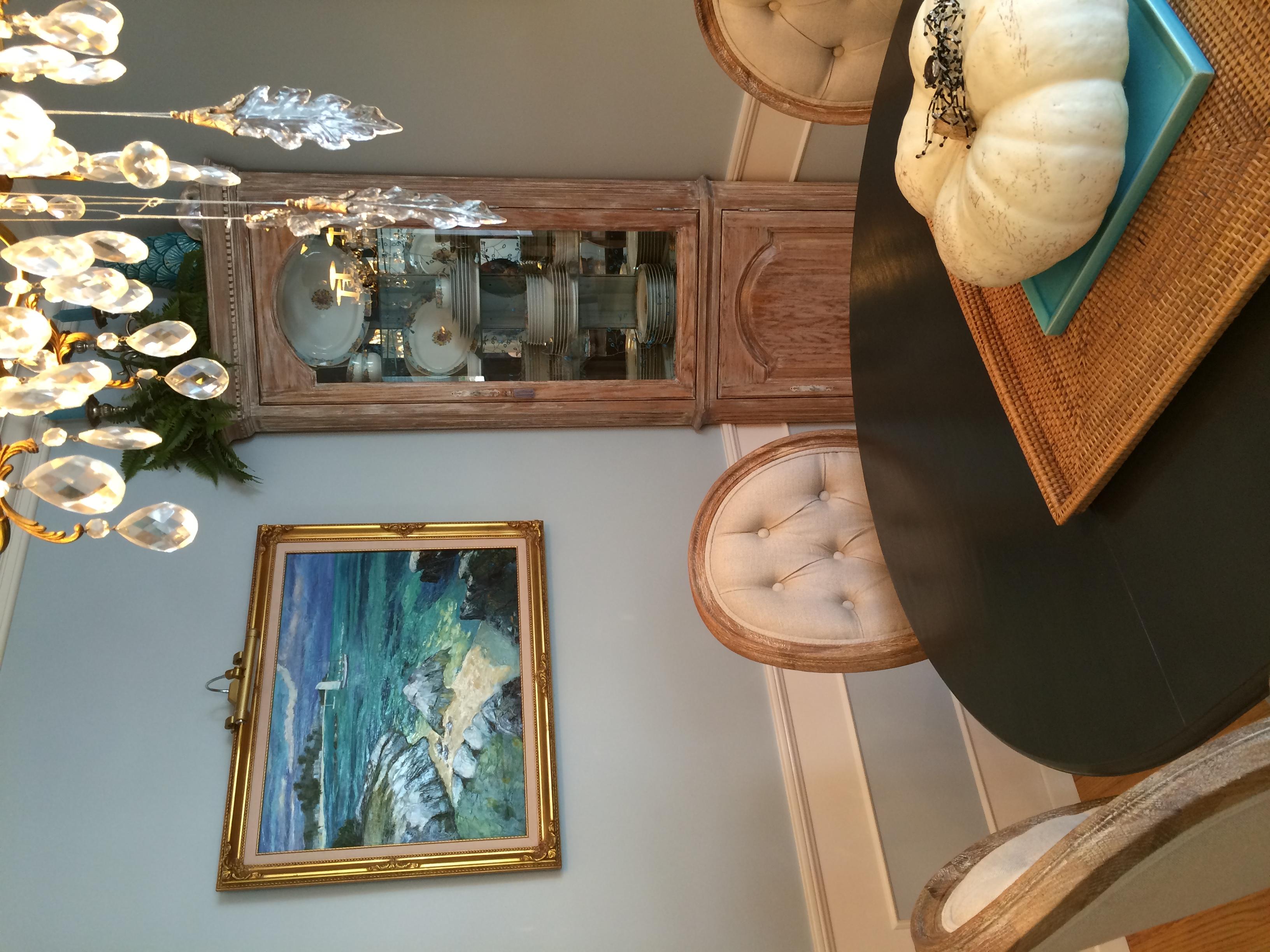 Oak Corner Cabinet - After