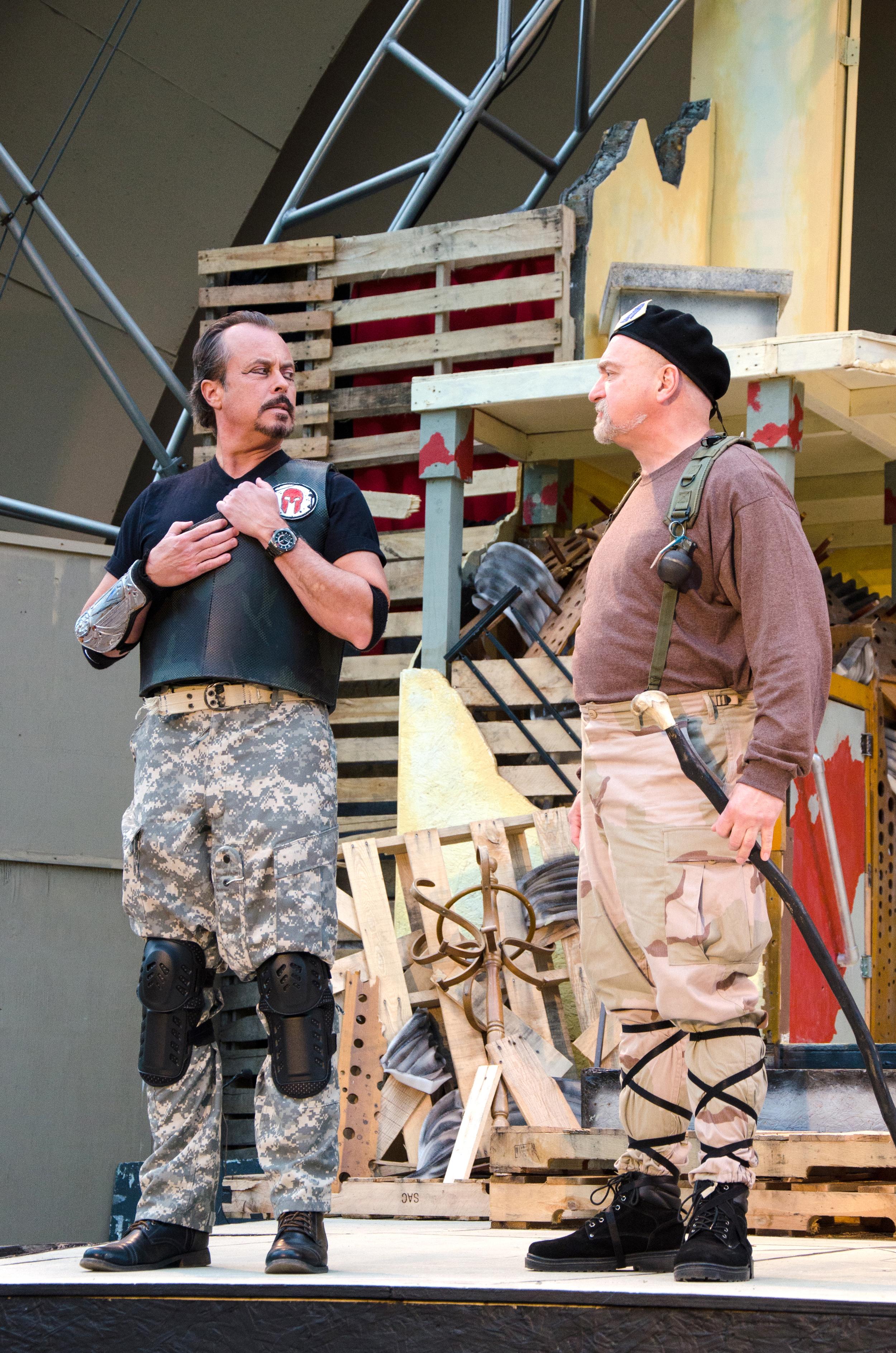 Agamemnon (Jeffrey Rensch), Nestor (Jeff Wasileski)