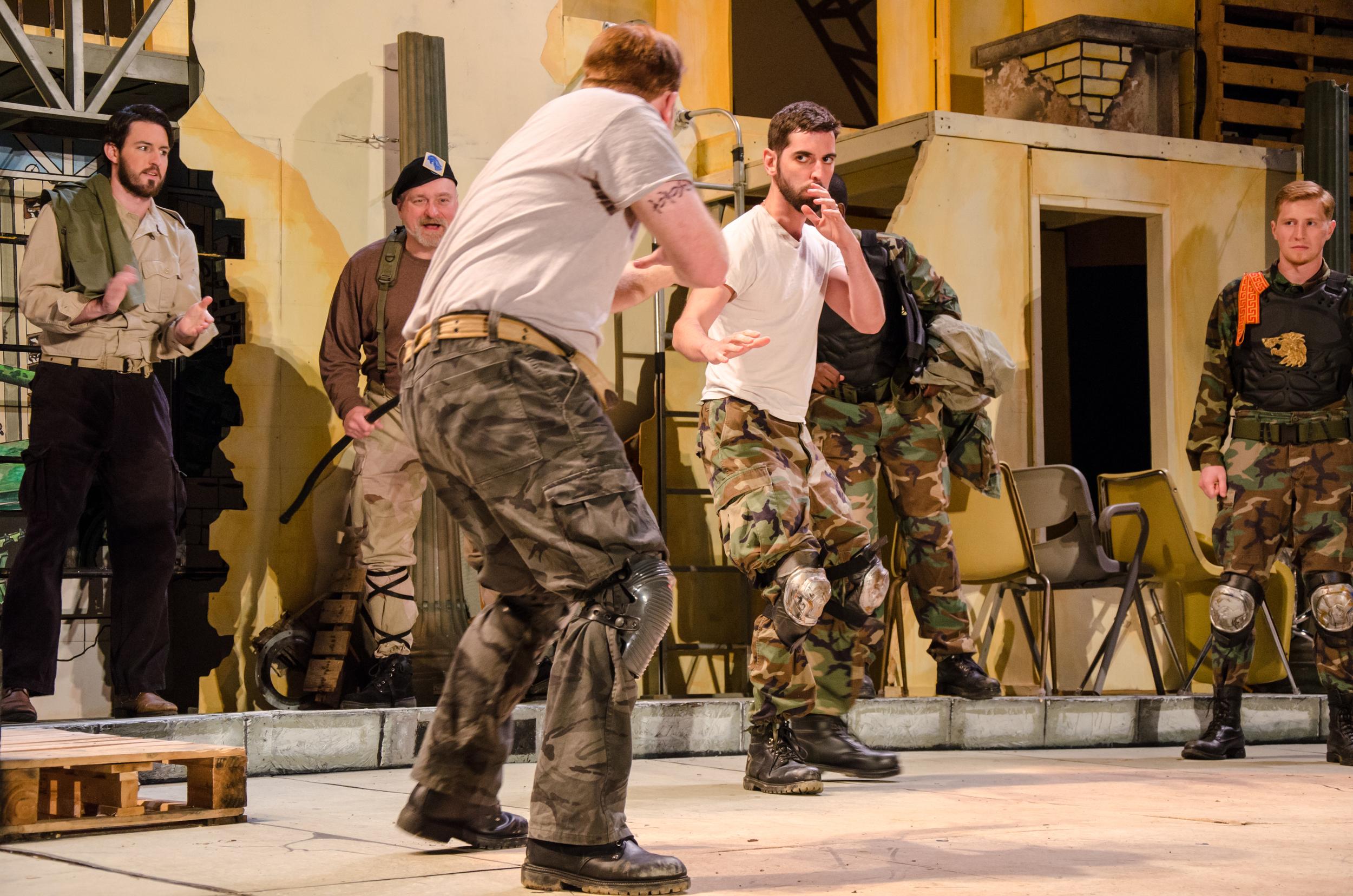 Diomedes (Ross Carmichael), Nestor (Jeff Wasileski), Ajax (Nicholas Wasileski), Hector (Sean Adams), Aeneas (Bernard Joseph), Troilus (Jared Calhoun)