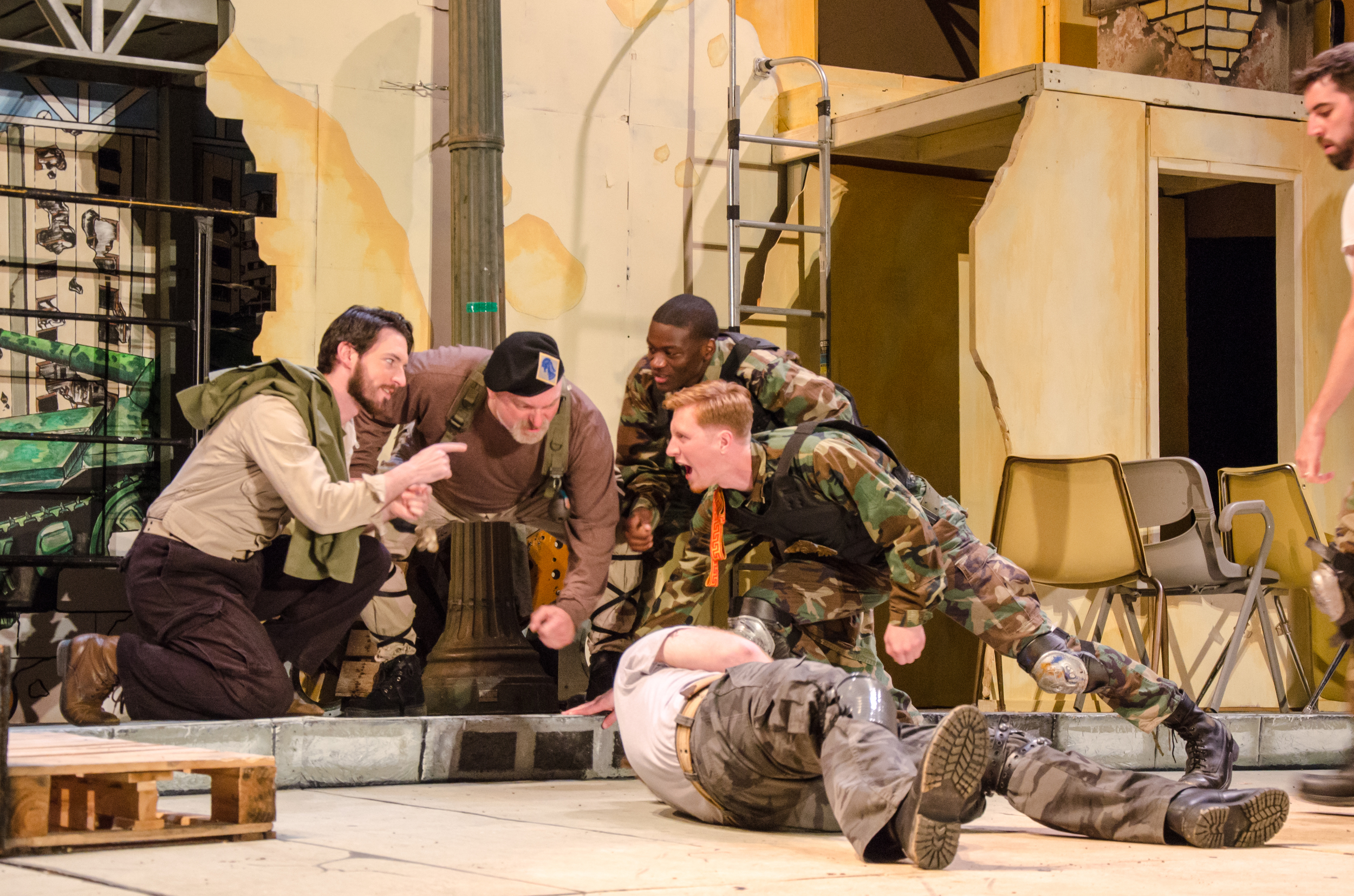 Diomedes (Ross Carmichael), Nestor (Jeff Wasileski), Aeneas (Bernard Joseph), Ajax (Nicholas Wasileski), Troilus (Jared Calhoun)