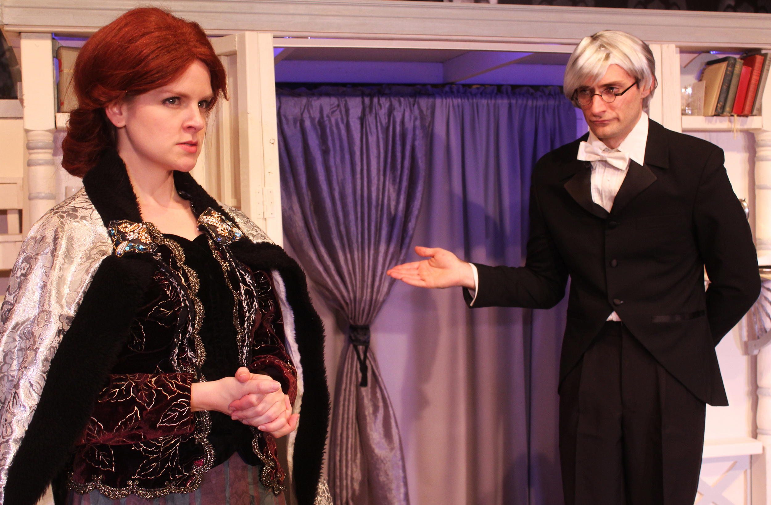 Mrs. Cheveley (Kathryn Miller), Phipps (Ian Potter)