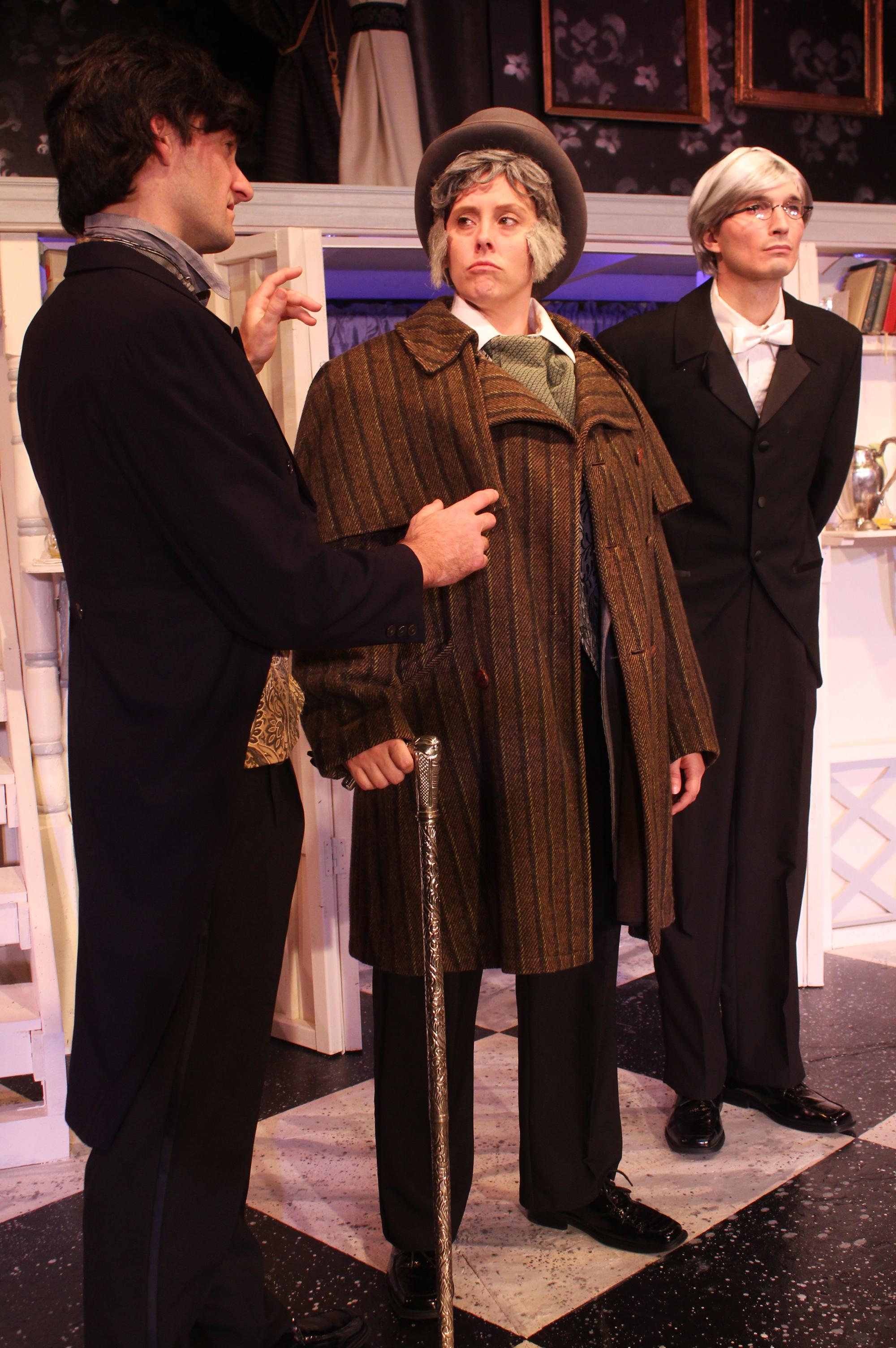 Lord Goring (Ian Potter), Lord Caversham (Tara Herweg-Mann), Phipps (Thomas Weaver)
